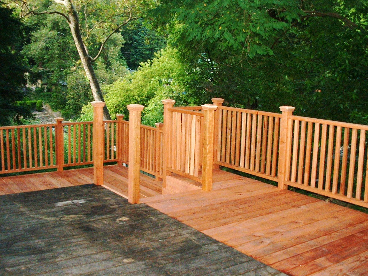 wood decks redwood decks plans